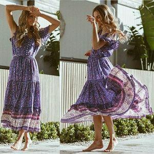 Spell designs Bravehearts maxi skirt purple haze S